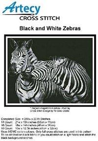 Black and White Zebras (Artecy Cross Stitch)