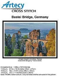 Bastei Bridge, Germany  (Artecy Cross Stitch)