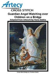 Guardian Angel Watching over Children on a Bridge