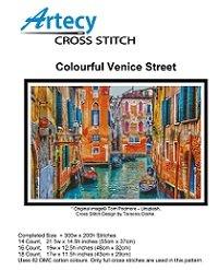 Colourful Venice Street (Artecy Cross Stitch)