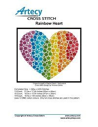 Artecy Cross Stitch - Rainbow Heart
