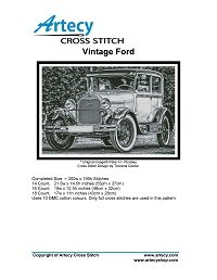Artecy Cross Stitch - Vintage Ford