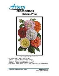 Artecy Cross Stitch - Dahlias Print
