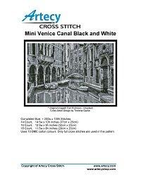 Artecy Cross Stitch - Mini Venice Canal Black and White