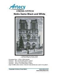 Artecy Cross Stitch - Notre Dame - Black and White